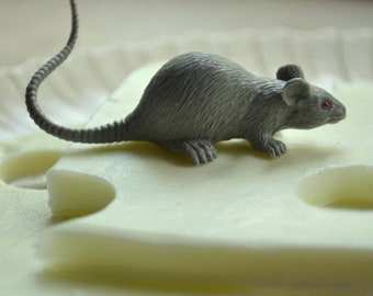 The Rat Takes the Cheese Fun Halloween Soap - Kids Soap - Novelty Gag Gift - Fun Soap - Cheese Soap - Soap for Kids - Gift Idea