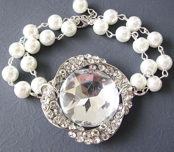 Wedding Bracelet Bridesmaid Gift Bridal Jewelry Bridal Bracelet Wedding Jewelry Set Crystal Rhinestone