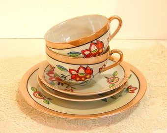 Lusterware Teacups And Dishes Occupied Japan