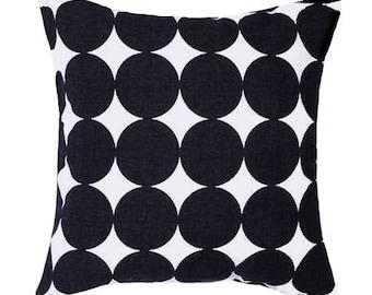CLEARANCE - Polka Dot Pillow, Dwell Studio Dotscape Jet Black Dots Decorative Pillow Free Shipping