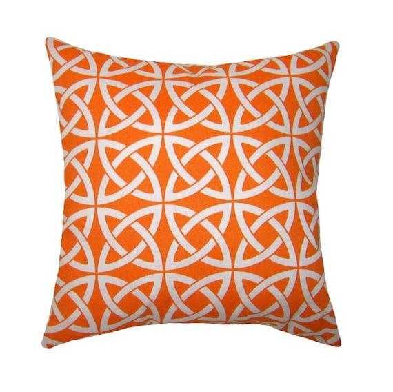 Modern Orange Pillow : Modern Orange Throw Pillow Linked In Tangerine Square or