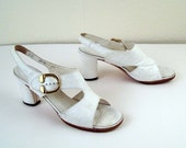 Vintage 1960s White Ostrich Heels Amano Nordstrom  Shoes 7