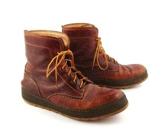 Barleycorn Boots Vintage 1980s Brown Leather  Men's size 8 1/2