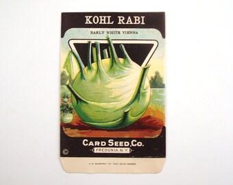Vintage 1920s Unused Paper Seed Packet Khol Rabi