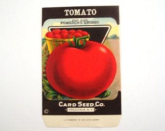 Vintage 1920s Unused Paper Seed Packet Tomato