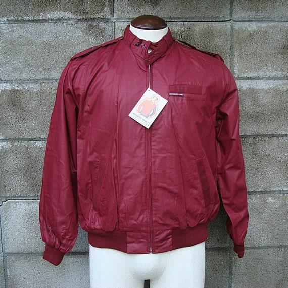 Member's Only Jacket Vintage 1980s Member's Only cafe racer jacket New Oldstock