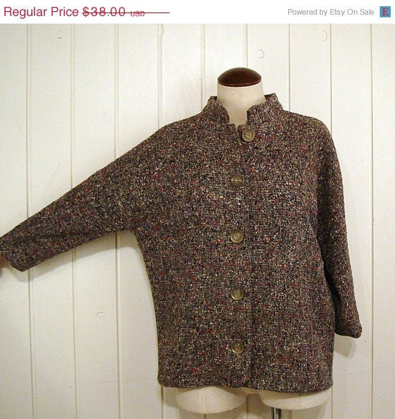 Vintage 1950s Gray Wool Tweed Jacket