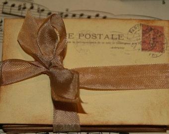 Wedding Guestbook Alternative - Vintage Paris Post Cards -  Wedding Escort or Wedding Table Placecards - Wedding Wishes- 100