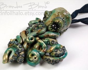 Custom Octopus Necklace / Hair Ornament / Wall Hanging / Cuff Bracelet- made to order