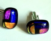 Dichroic Glass Cufflinks RESERVED FOR DARLINGBLUEBELL