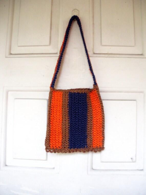 SALE Small Jute Bohemian Shoulder Bag Purse, ready to ship.