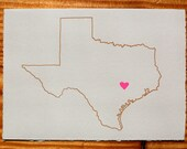 I Heart Texas Blank Greeting Card