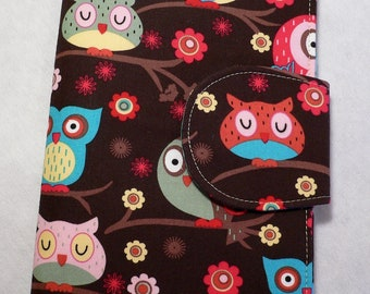 Kindle Paperwhite Cover, iPad Mini cover, Book Style, Kindle Touch Cover, Kindle Fire Cover, Brown Owl
