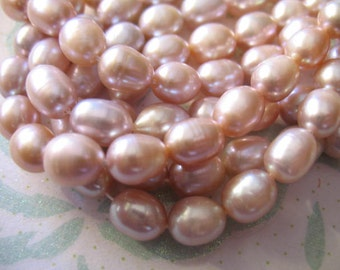 Shop Sale..Freshwater Pearls,  RICE Drop Pearls, Cultured, Luxe AA, Full Strand, 10x8 mm, u pic, gray white, black pink, peach.. dlp