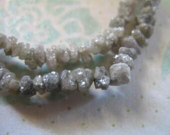Shop Sale.. 10 25 50 pcs, ROUGH DIAMOND Raw Diamond NUGGETS, 2-3 mm, Shades of Gray Grey Silver Diamond Chips, april birthstone ddg 23 solo