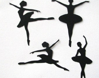 Ballet dancers die cut embellishments in any color set of 8