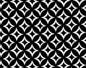 Tweedle Dee Tile in Black by Michael Miller - 1 Yard