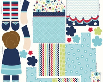 Dress Up Days Panel in Blue by Riley Blake - 24 inches