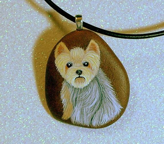 Custom pet portraits pet portrait memorial gift idea pets lovers miniature painting stone pendant jewelry personalize painted rock necklace