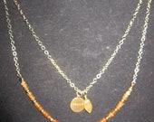 "Golden Hues ""Peace"" Double-Strand Necklace"