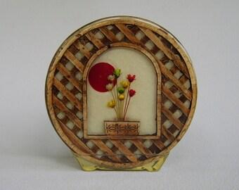 Vintage Lucite Resin Napkin Holder Seventies Retro