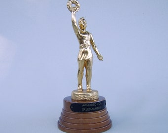 Vintage Art Deco Trophy for Salesmanship Antique Award