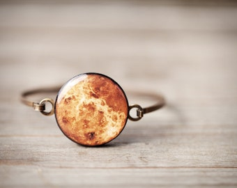 Venus Planet Bracelet,  for her, Solar System bracelet, Space Jewelry, Venus bracelet, Orange Bracelet, Space bracelet