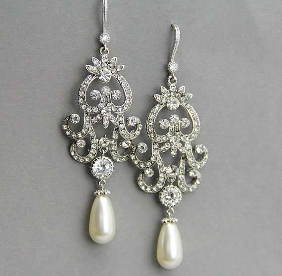 bridal chandelier earrings wedding by lavenderbyjurgita