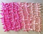 100 Small Origami Cranes Origami Paper Cranes Paper Crane Origami Crane - Made of 7.5cm 3 inches Japanese Paper - 4 Pink Colors