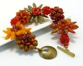 Statement Floral Bracelet, Fall Colors, Life's Abundance