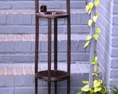 SALE Smoking Stand, Hand made, tramp art, wood, joy of smoking