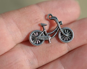 5  Silver Bicycle  Charms SC1300