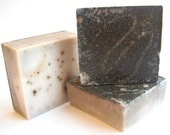 Columbian Coffee Soap - Cafe Latte-Cinnamon Brazil Nut - vegan exfoliating gardners soap....kitchen soap... For Coffee Lovers...