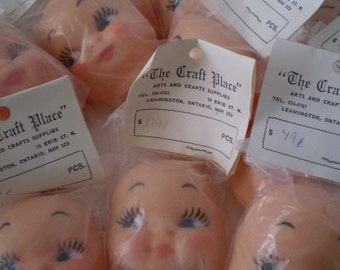 Vintage Soft Rubber Half Head Mask Doll Face Still in Package