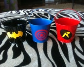 Batman and Robin Party Favor Buckets/ Treat Bag with Your Choice of Logo, Style 1