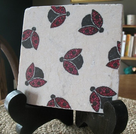 Https Www Etsy Com Listing 57146693 Ladybug Kitchen Trivet Home Decor Ready