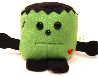 Green Monster - Whee One - Stuffed Animal Frankenstein -  Stuffed Toy - Plushie