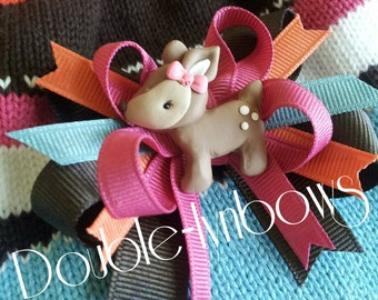 Woodland Friends hairbow with deer center m2m gymboree m2mg from Double-lynbows