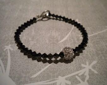 Swarovski Crystal Pave Rhinestone Ball Bridal Bracelet