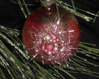 Vintage Christmas Ornament, Pink Vintage Ornament