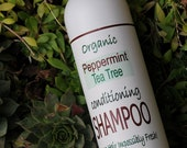 ORGANIC SHAMPOO, Peppermint and Tea Tree leave your hair impossibly fresh