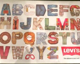 Vintage 1980s Levi's Alphabet Collectible