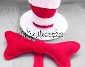 Cat in the Hat Inspired Top Hat T and Bow Tie