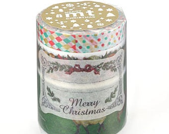 mt Christmas Washi Masking Tape - C - Set 3