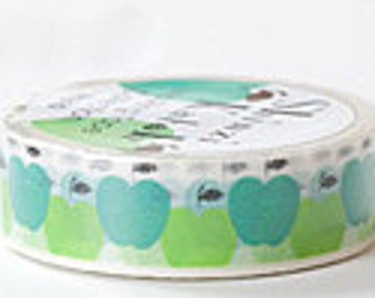 Shinzi Katoh Masking Tape - Green Apples
