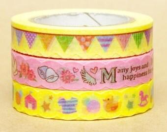 NamiNami Washi Masking Tape - Banner, Happiness & Toys - Slim