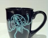 Hand painted mug - Robot Jellyfish