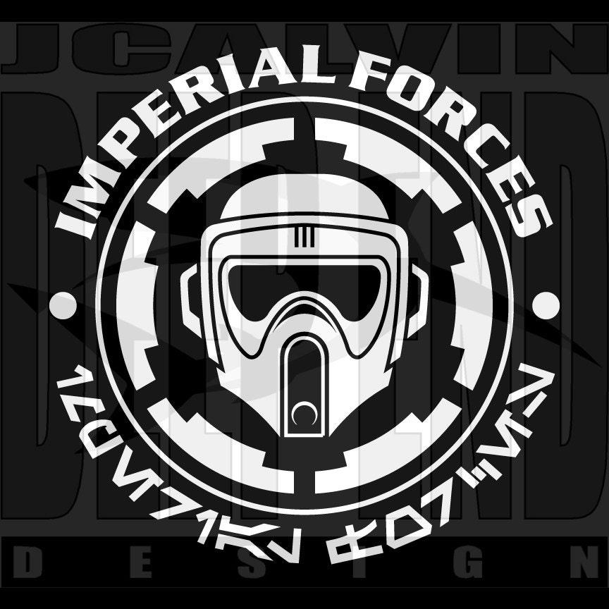 Star Wars Biker Scout Stormtrooper Imperial Cog T Shirt Screen