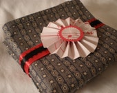 Gray Stars Stripes Pocket Square.Ladies Hanky Civil War Reprod. Fabric-Dad Grandpa Brother Boyfriend