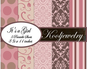 Its a Girl Paper Pack - No.118